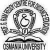 Osmania University, Prof. G. Ram Reddy Centre for Distance Education